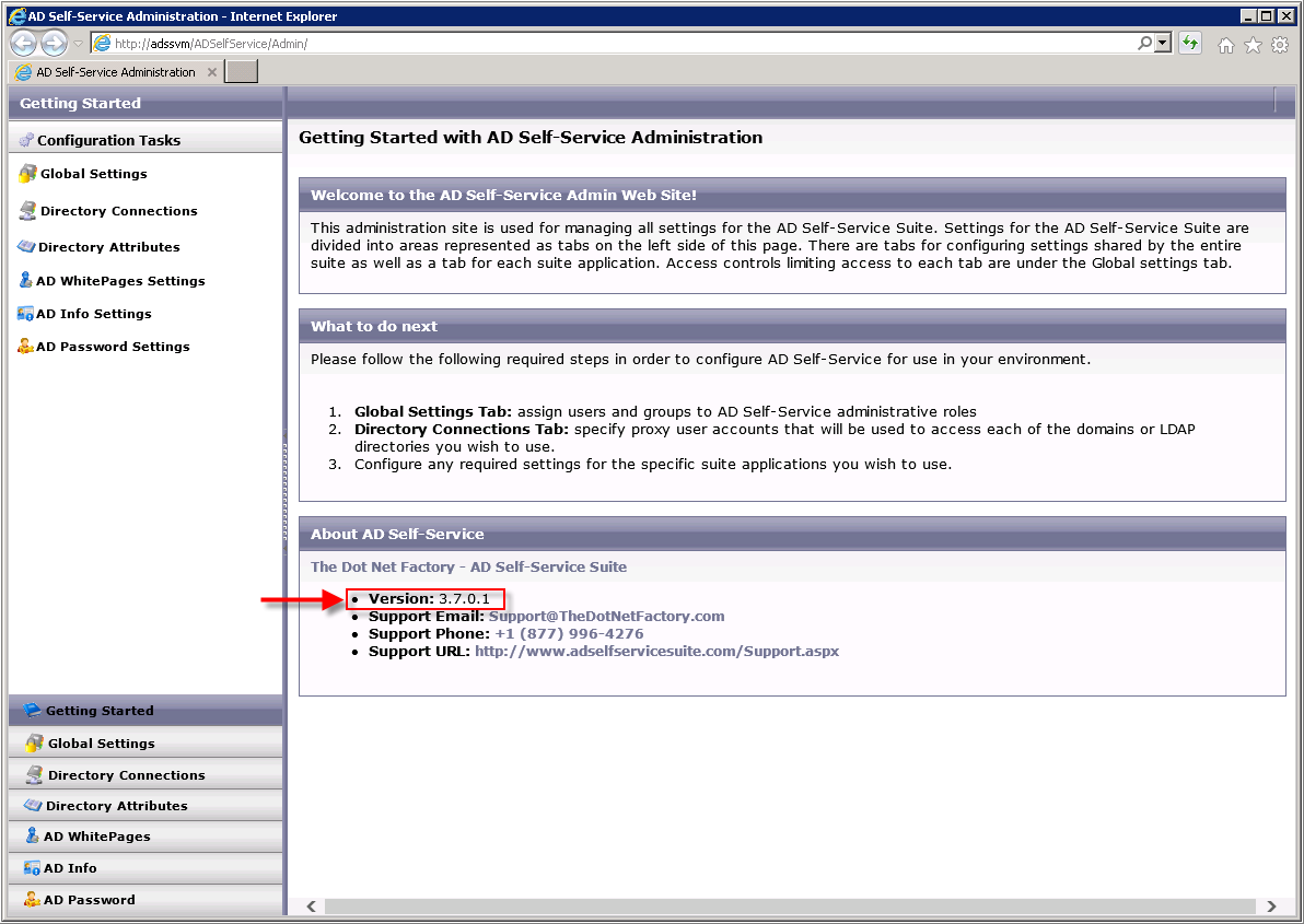 How to update the AD Self-Service Suite 3 5 - 3 7 license