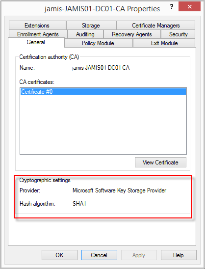 Requesting a sha 256 certificate for empowerid using active please read the following windows pki blog entry upgrade certification authority to sha256 yelopaper Choice Image