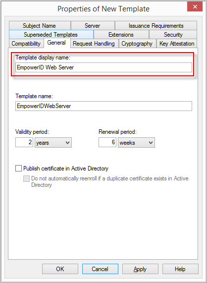 Requesting a sha 256 certificate for empowerid using active click the request handling tab check allow private key to be exported if you need to export the private key to a x file once the certificate request is yadclub Images